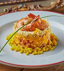 Салат «Мимоза» с креветками